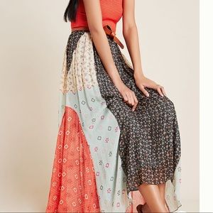 NWT Anthropologie Margot Pleated Maxi Skirt size 0